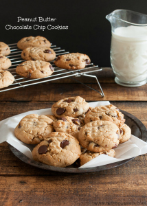 Soft and Chewy Peanut Butter Chocolate Chip Cookies