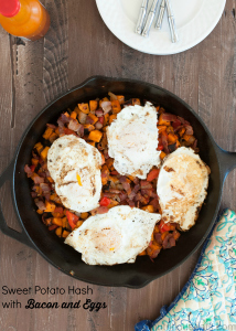 Sweet Potato Hash with Bacon and Eggs {Gluten Free, Paleo}