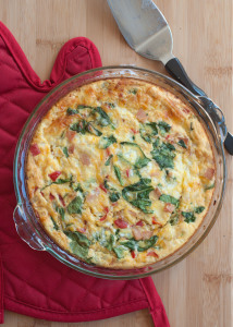 Ham and Veggie Crustless Quiche