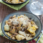 Artichoke, Mushroom and Onion Sauté #glutenfree | www.nutritiouseats.com
