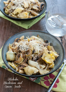 Artichoke, Mushroom and Onion Sauté