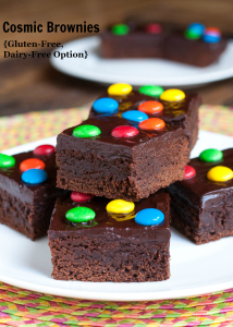 Cosmic Brownies {Gluten-Free, Dairy-Free Option}