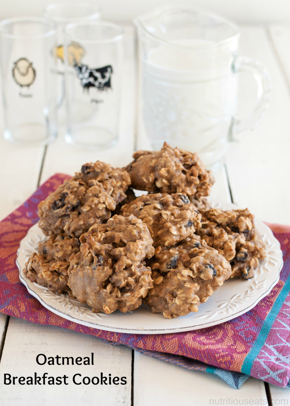 Oatmeal Breakfast Cookies | www.nutritiouseats.com