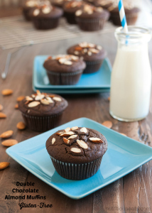 Double Chocolate Almond Muffins {Gluten-Free}