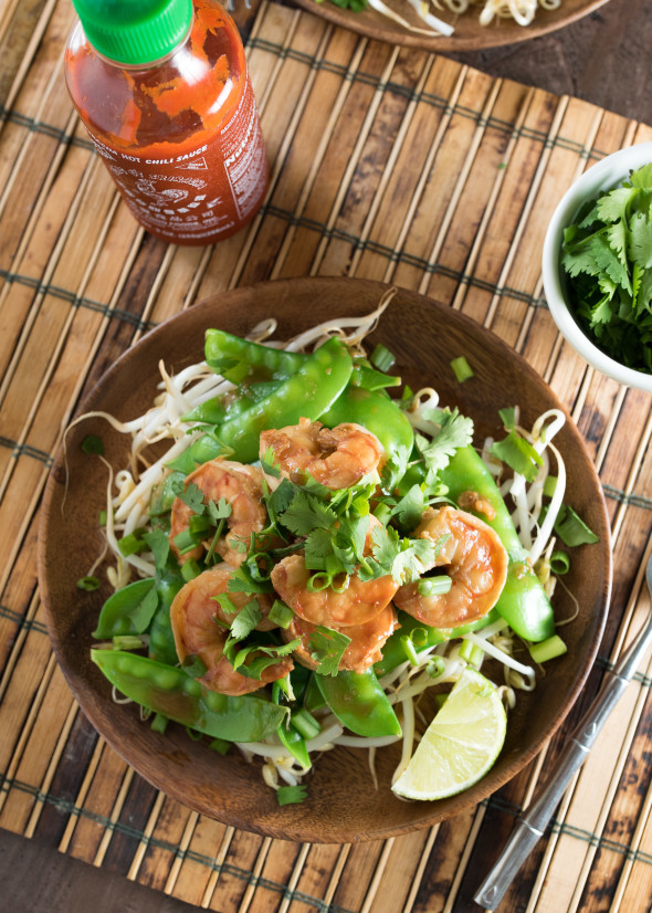 Ginger and Soy Shrimp With Bean Sprouts and Snow Peas | Nutritious Eats