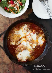 Lightened Up Easy Chicken Parmesan