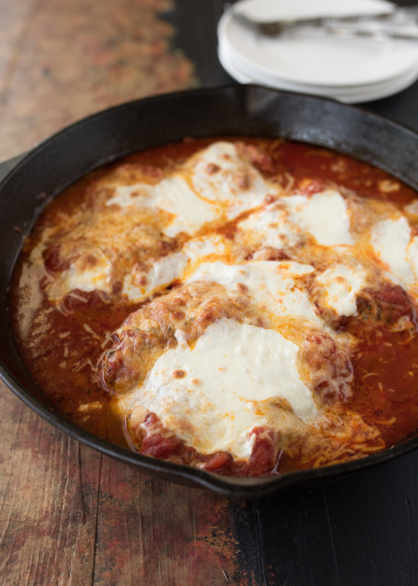 Lightened Up Chicken Parmesan | Gluten Free- Super Simple www.nutritiouseats.com