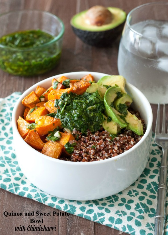 Quinoa & Sweet Potato Bowl With Chimichurri | Portable Healthy Recipes | Homemade Recipes
