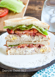 Salmon Salad BLT