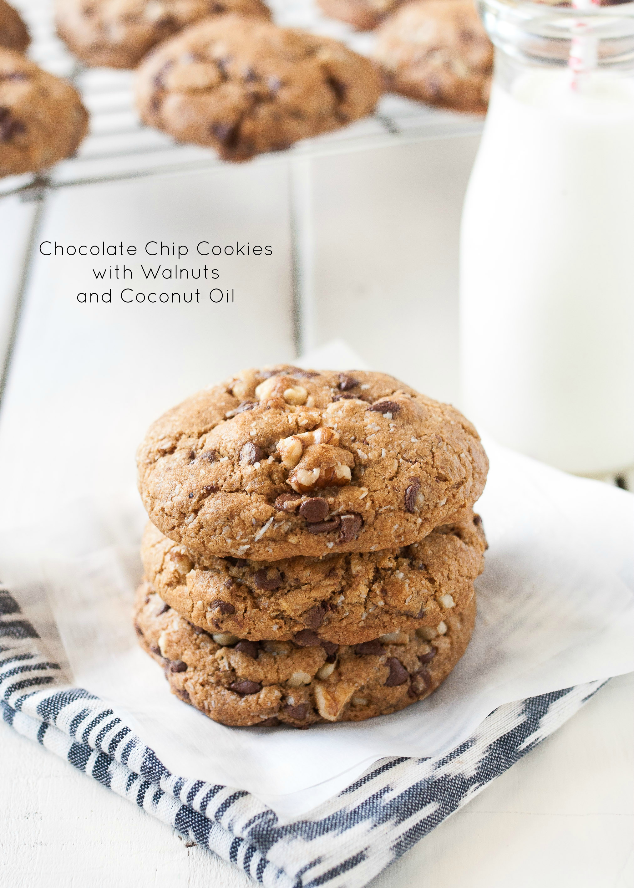 Chocolate Chip Cookies With Walnuts and Coconut Oil-1-5