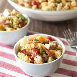 Cobb Pasta Salad- traditional Cobb Salad meets pasta for this kid-friendly, one-dish meal.