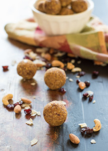 Pumpkin and Cranberry Spiced Energy Balls {Gluten Free, Grain Free}
