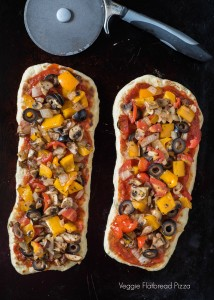 Veggie Flatbread Pizza