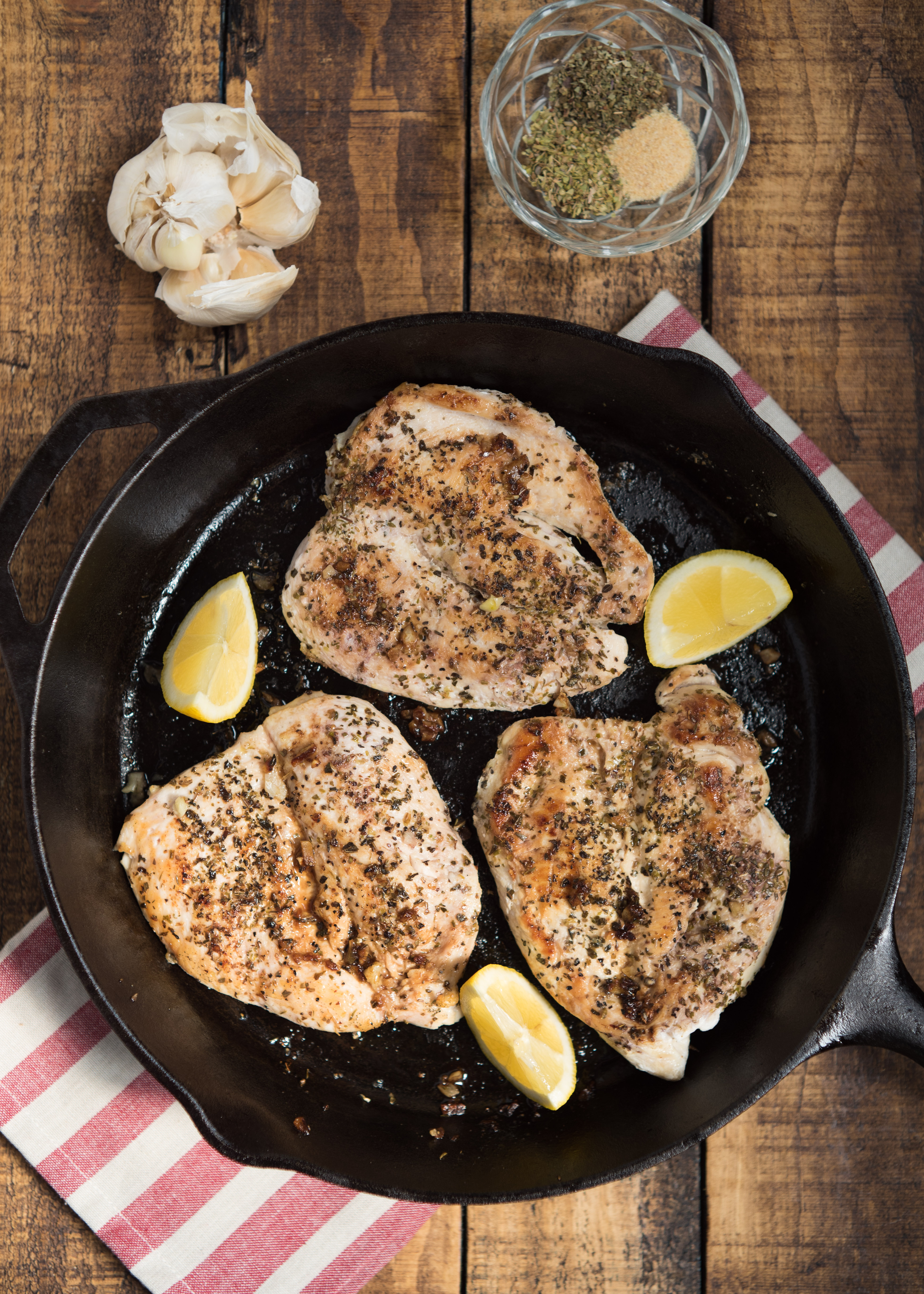 "Italian-Seasoned Sautéed Chicken Breasts- my ""go-to"" chicken that can be transformed into a variety of meals throughout the week."