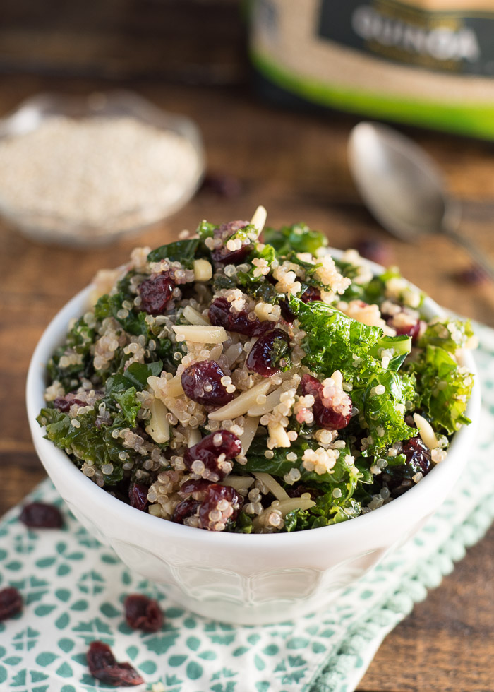 Kale and Quinoa Salad {Gluten Free}| Nutritious Eats