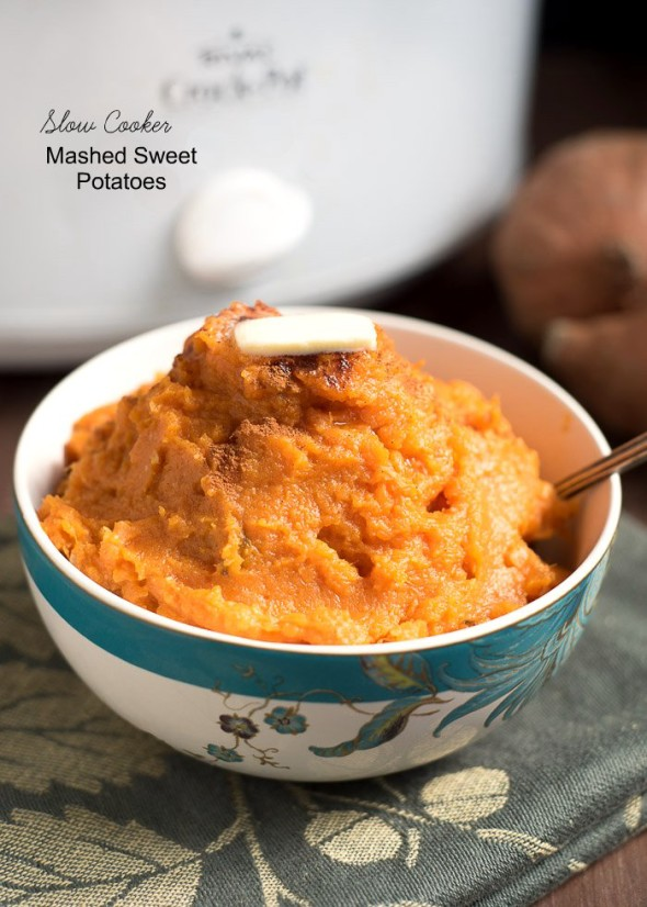 Slow Cooker Mashed Sweet Potatoes | Nutritious Eats