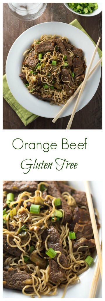 Forget take-out, make this tasty orange beef with a citrusy ginger-garlic sauce, perfect to serve with noodles or rice.