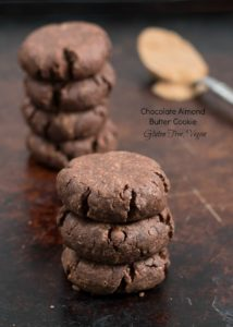 Chocolate Almond Butter Cookies {Gluten Free, Vegan, Low Sugar}