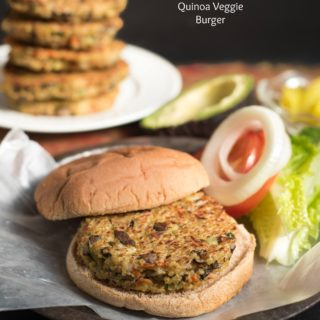 Quinoa Veggie Burger- a simple gf patty that makes a great vegetarian meal! | www.nutritiouseats.com
