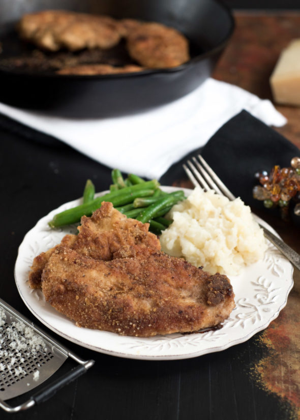 Parmesan and Pecan Crusted Oven Baked Chicken- a lightened up version of some good ol' comfort food   www.nutritiouseats.com