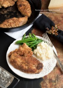 Parmesan and Pecan Crusted Oven Fried Chicken