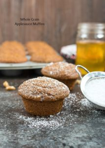 Applesauce Muffins {Whole Grain}