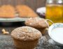 Applesauce Muffins {Whole Grains}- these simple and super moist muffins can be whipped up in hurry! | www.nutritiouseats.com