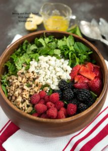 Berry and Herb Salad with Lemon Vinaigrette