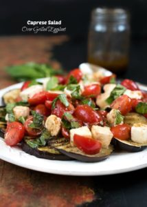 Caprese Salad Over Grilled Eggplant