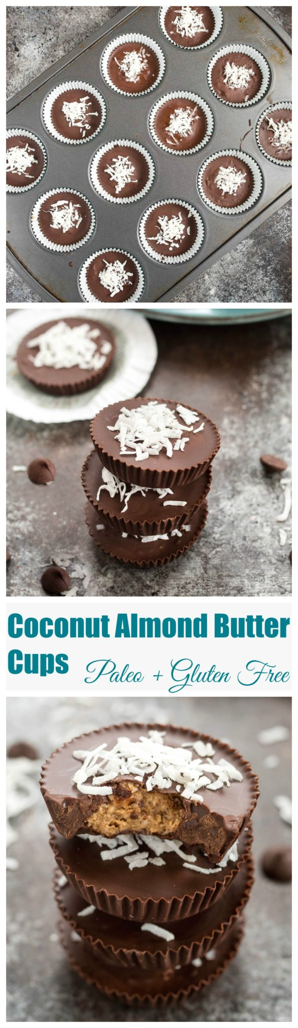 Coconut Almond Butter Cups- just like homemade peanut butter cups but using almond butter and jazzing it up with a little coconut flavor. So easy and they keep well too! | www.nutritiouseats.com