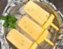 Creamy Minty Mango Popsicles- these lower sugar, simple 4 ingredient pops can be assembled in minutes and make a healthy treat! | www.nutritiouseats.com