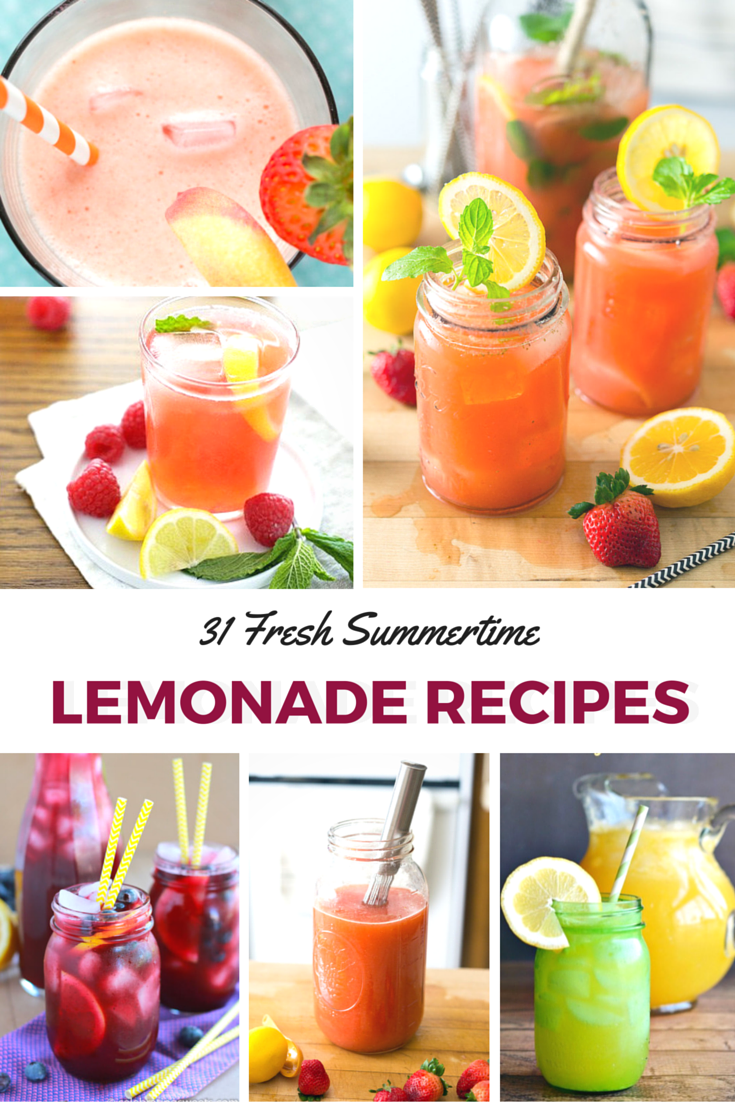 31 Fresh Summertime Lemonade Recipes- Roundup- www.nutritiouseats.com
