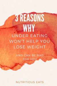 3 Reasons Why Under Eating Won't Help You Lose Weight