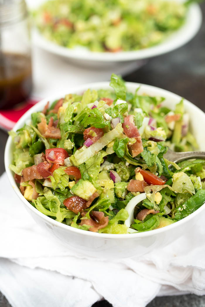 The Best Classic Chopped Salad- this will become a favorite salad from the moment you try it. Perfect for all occasions! | www.nutritiouseats.com