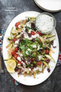 Loaded Mediterranean Fries {Vegetarian, Gluten Free}