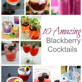10 Amazing Blackberry Cocktails- in the mood for some thing light and fruity? These 10 cocktails look easy and refreshing! | www.nutritiouseats.com