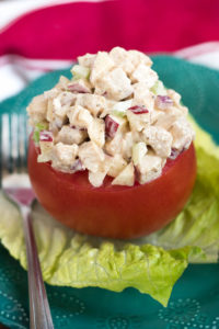 Cumin Chicken Salad Stuffed Tomato
