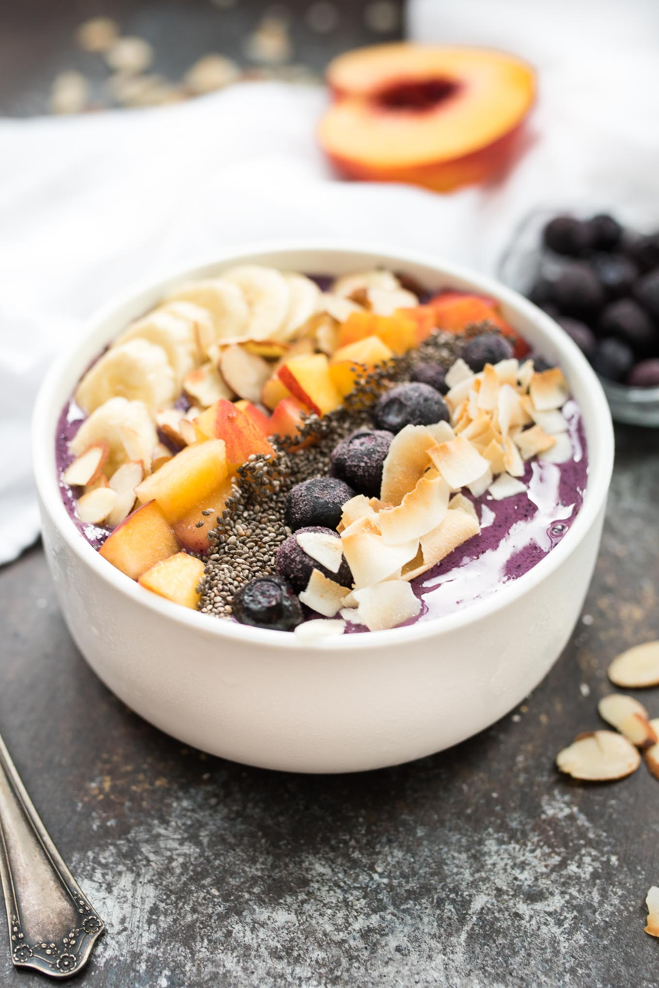 Blueberry Smoothie Breakfast Bowl- a delicious and nourishing bowl ...