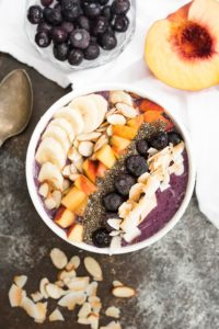 Blueberry Smoothie Breakfast Bowl