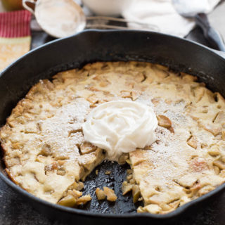 Baked Apple Pancake, a delicious gluten-free, grain-free dish that is perfect for a weekend breakfast or Holiday brunch. | www.nutritiouseats.com