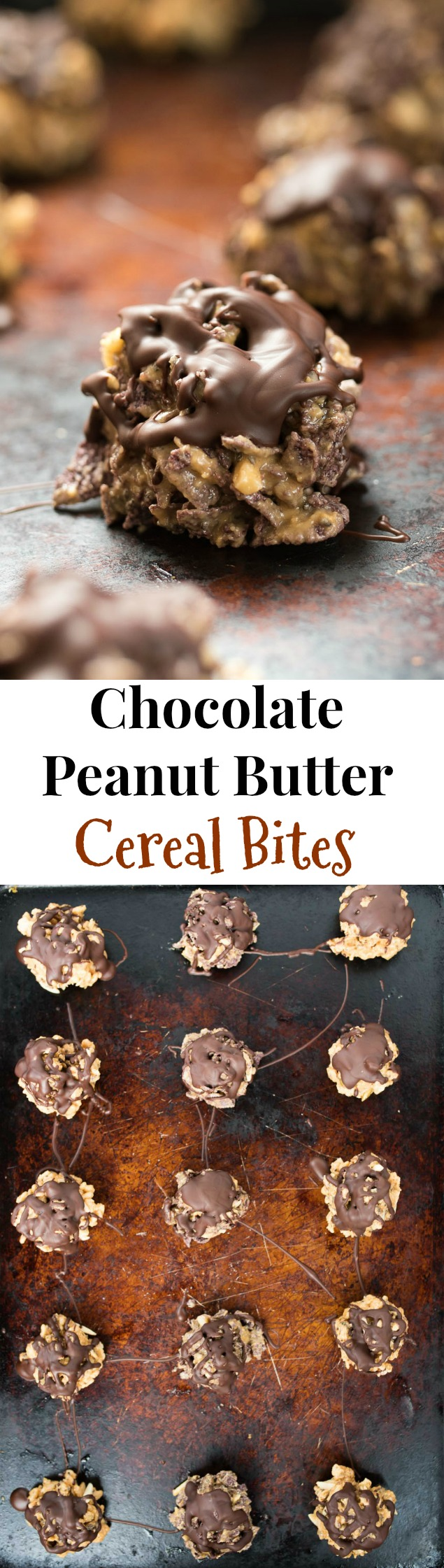 Chocolate Peanut Butter Cereal Bites- simple and nutritious cereal bites great for that sweet tooth or kid-friendly treat! | www.nutritiouseats.com