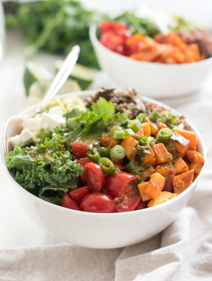 Cilantro Lime Quinoa Veggie Bowl #glutenfree #vegan and a great make ahead meal | www.nutritiouseats.com