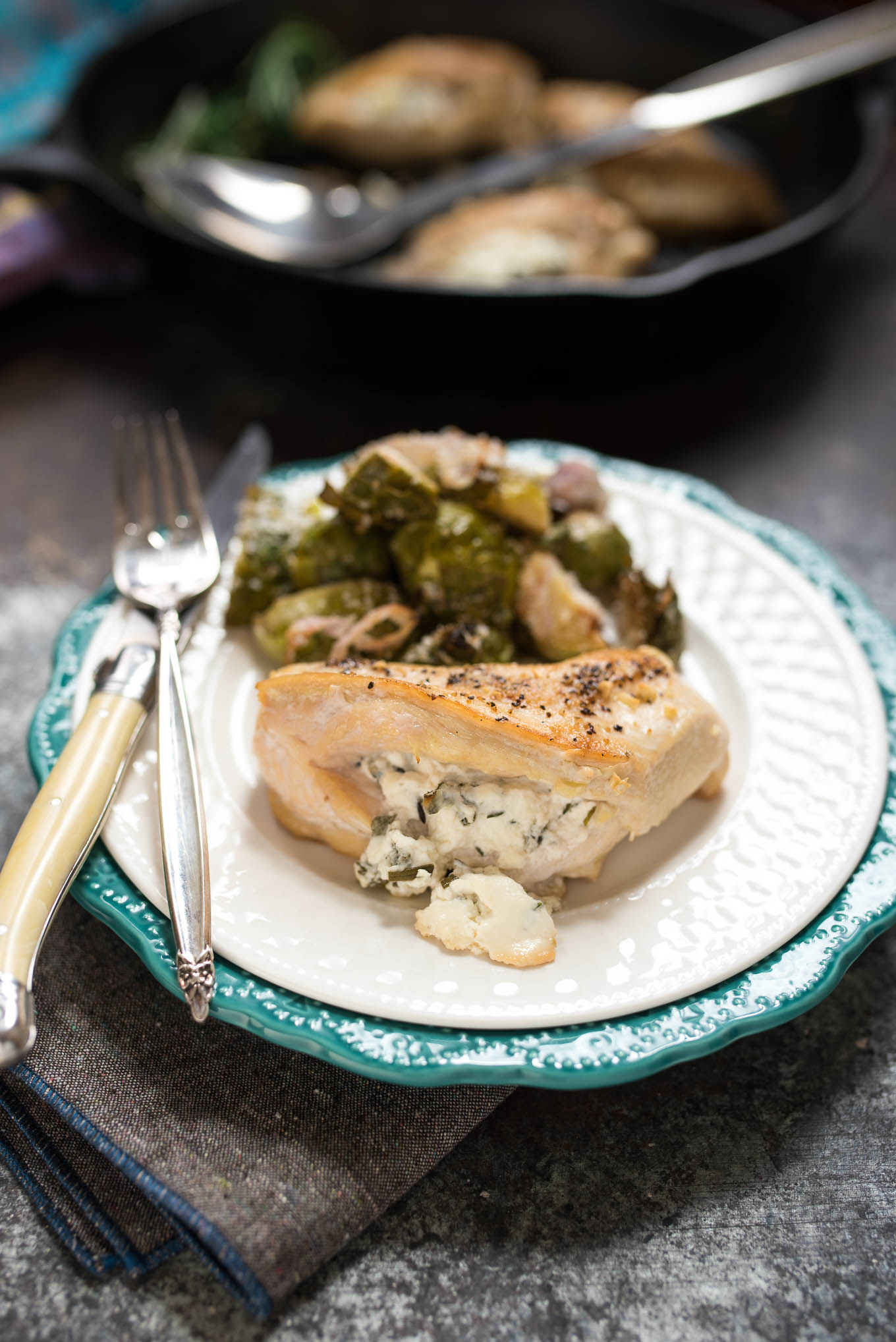 Goat Cheese And Herb Stuffed Chicken Breasts