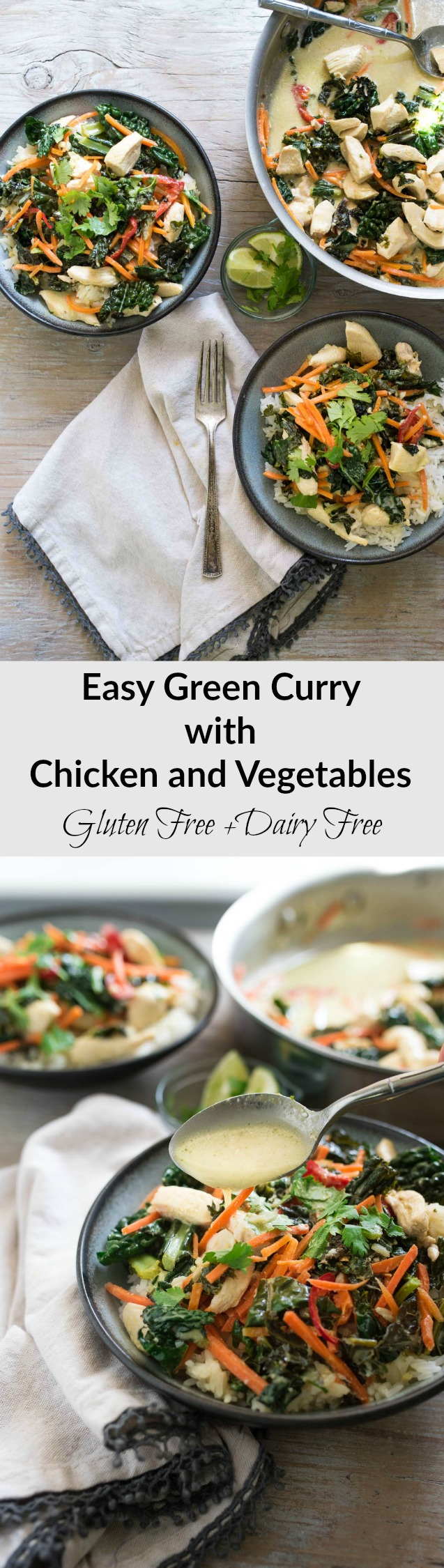 Ready in under 30- forget take out, try this naturally gluten and dairy free easy Green Curry with Chicken and Vegetables