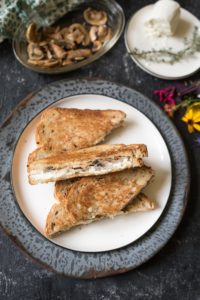 Grilled Goat Cheese Sandwiches With Mushrooms