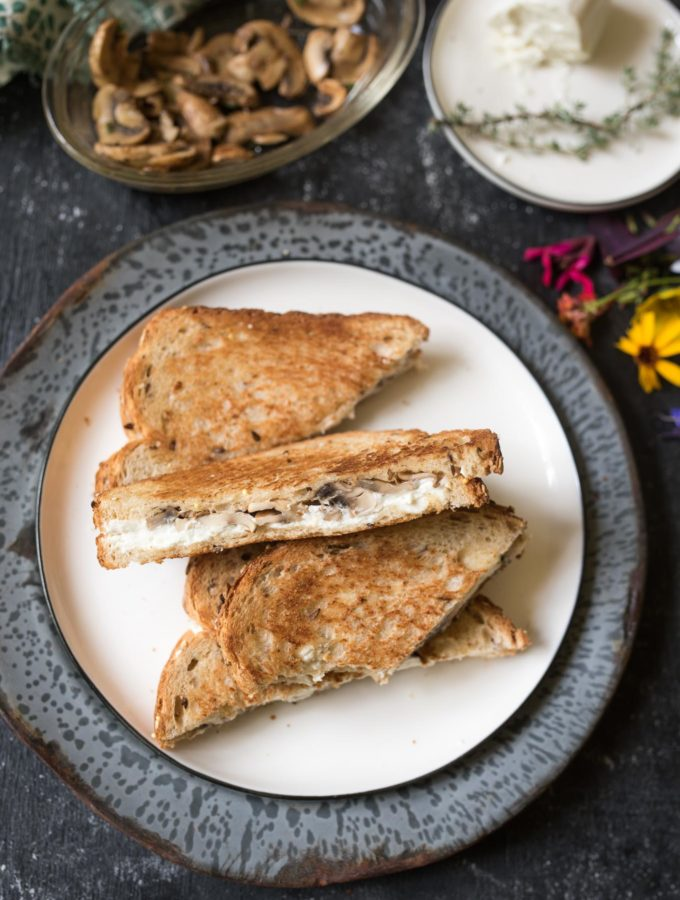 Grilled Goat Cheese Sandwiches with Mushrooms are simple yet gourmet ...