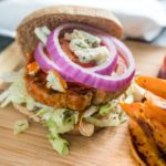 Skip the fried wings and make some easy and tasty Buffalo Turkey Burgers. For a low carb version serve them in lettuce wraps instead of on a bun!