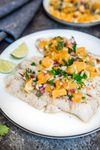 White Fish With Orange Salsa