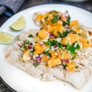 White Fish With Orange Salsa is a fresh and light dish that is gluten free, Whole 30 compliant and simple to prepare.