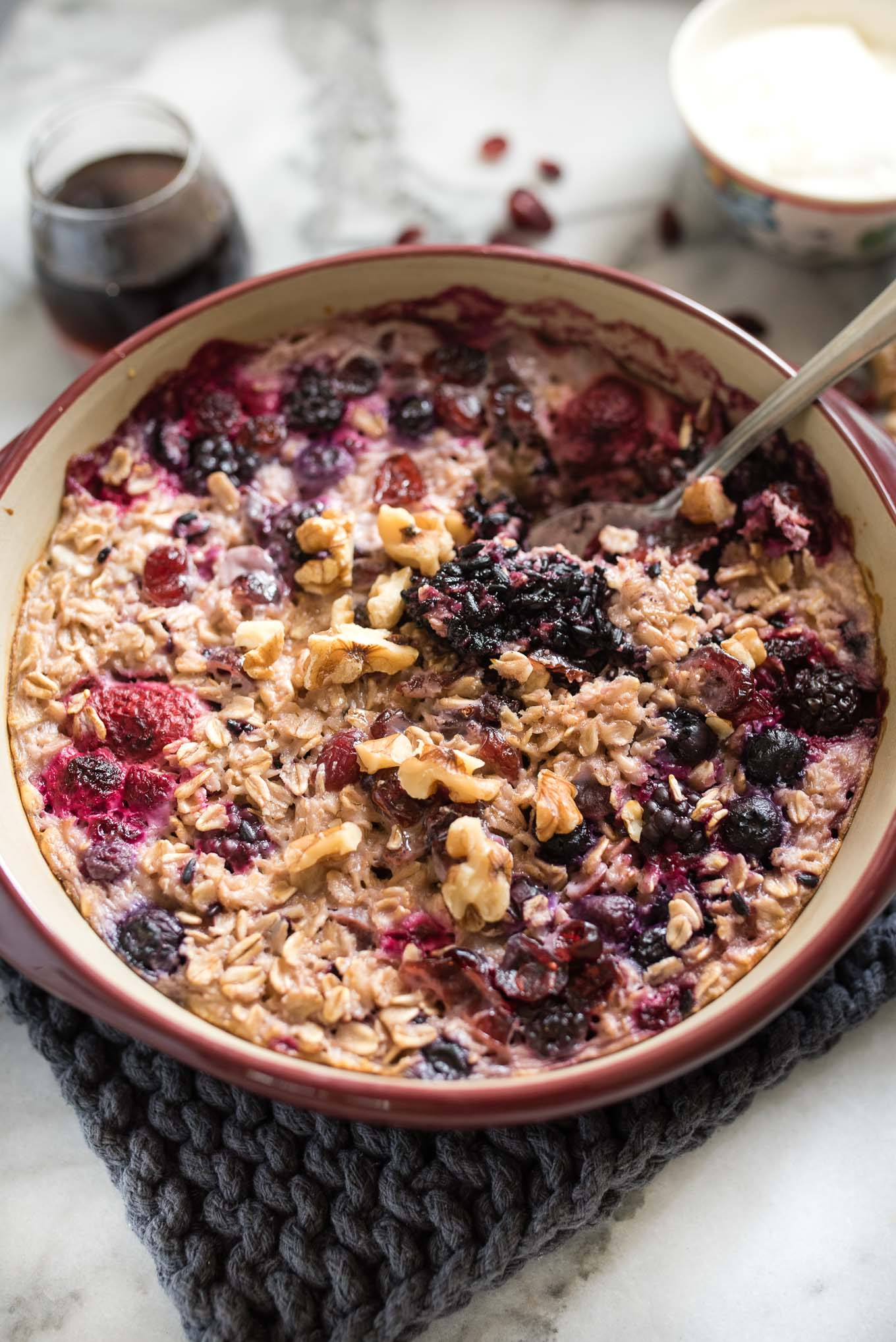Berry Lavender Baked Oatmeal is a simple, gluten-free nourishing breakfast to help you start your day off right.